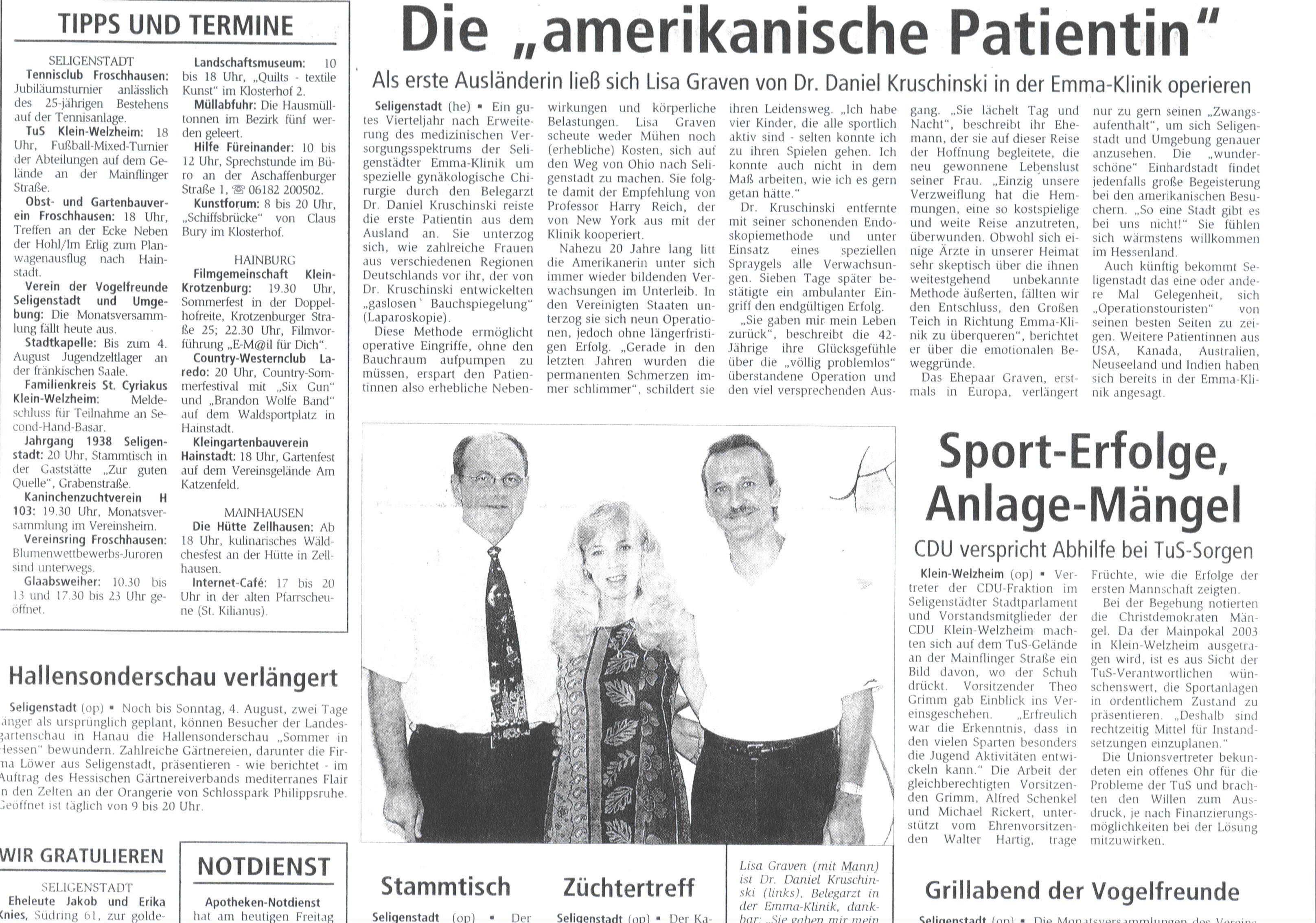offenbach post bekanntschaften Niederrhein